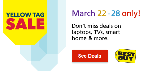 Yellow TAG Sale. March 22 - 28 only! Shop Now.